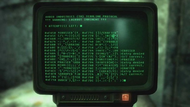 W serii Fallout zabawa w łamanie kodów była bardzo prosta, ale idealnie komponowała się z klimatem gry.