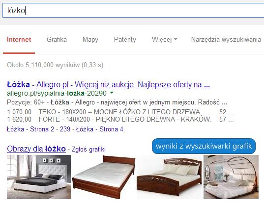 Wyniki wyszukiwarki grafik ze zdjęciami produktów pobranymi ze stron sklepów