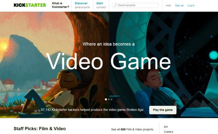 Screenshot ze strony www.kickstarter.com