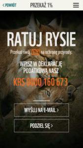 Aplikacja WWF - Ratuj Rysie