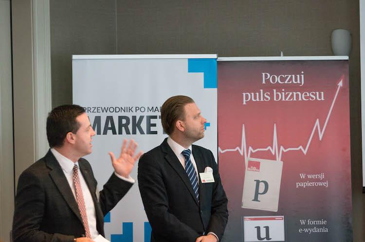 Marek Cynowski, E-Commerce Director CEP, Poczta Polska; Sławomir Żurawski, Dyrektor Biura Rozwoju Usług KEP, Poczta Polska S.A.