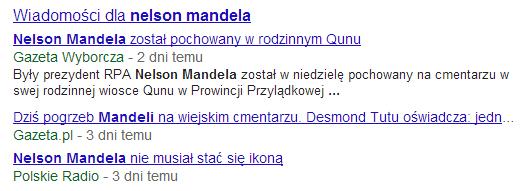 Artykuły z Google News w uniwersalnych wynikach wyszukiwania
