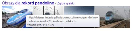 Obrazki z wyszukiwarki grafik w uniwersalnych wynikach wyszukiwania