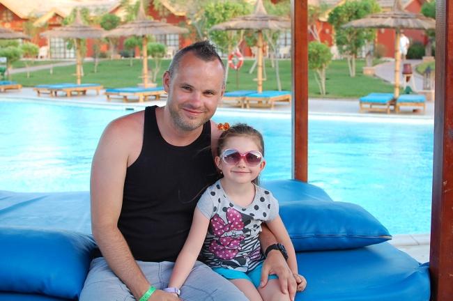 Łukasz (Lider Zespołu) z córką