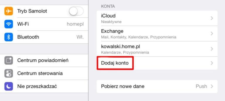 CalDAV i CardDAV w poczcie home.pl