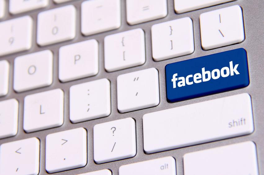facebook na klawiaturze