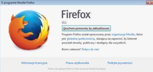 """Dzięki zakładce """"Pomoc"""" pobierzesz i zaktualizujesz przeglądarkę Mozilla Firefox."""