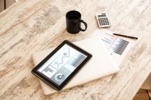 biurko laptop