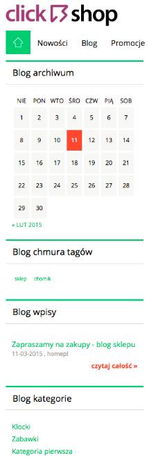 Moduły blogowe w Click Shop są już dostepne. Warto je dodać do swojego sklepu.