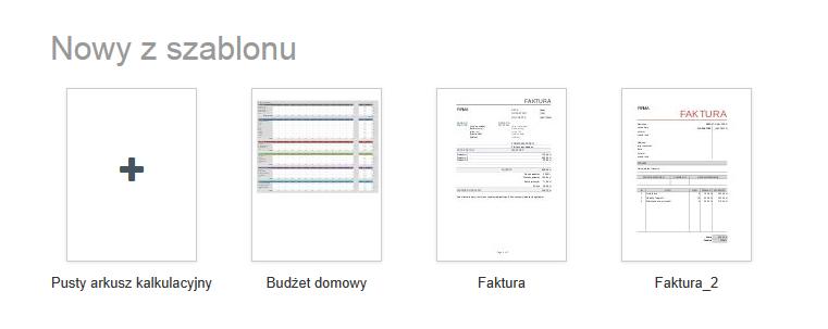 Wybierz gotowy szablon i wypełnij go danymi w Spreadsheet.