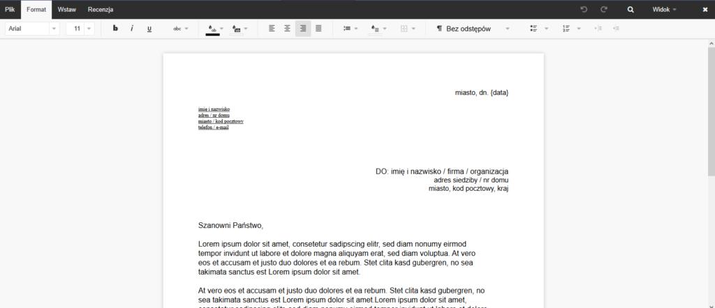 Praca nad dokumentem w Text