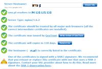 Przykład certyfikatu ze starym algorytmem.