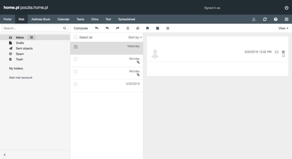 glowny ekran webmaila
