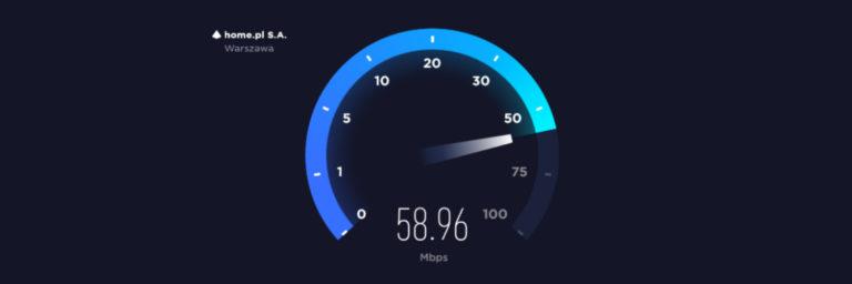 Przetestuj szybkość łącza do serwera home.pl w serwisie Speedtest od Ookla