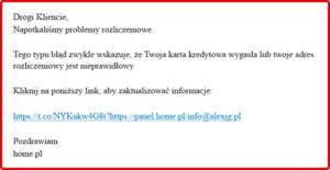 Phishing - przykład