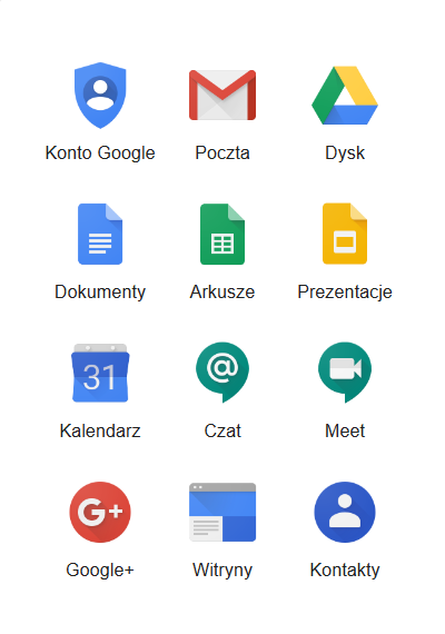 Aplikacje Google