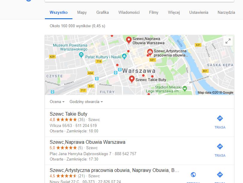 Reklama w Internecie dla firmy - Mapy Google