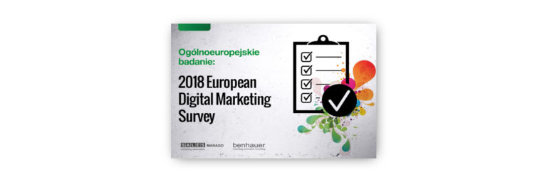 Wyniki ankiety 2018 European Digital Marketing Survey – pobierz ebook od home.pl i Salesmanago