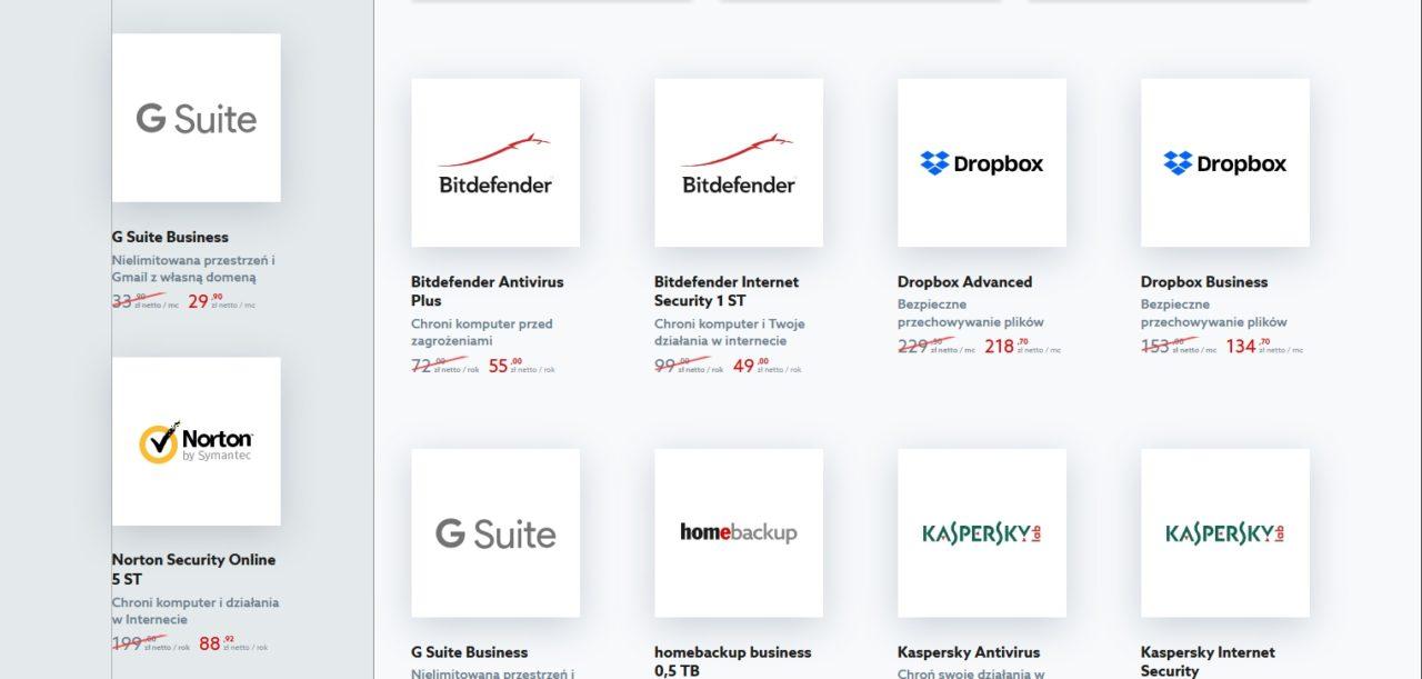 Marketplace z aplikacjami w home.pl.