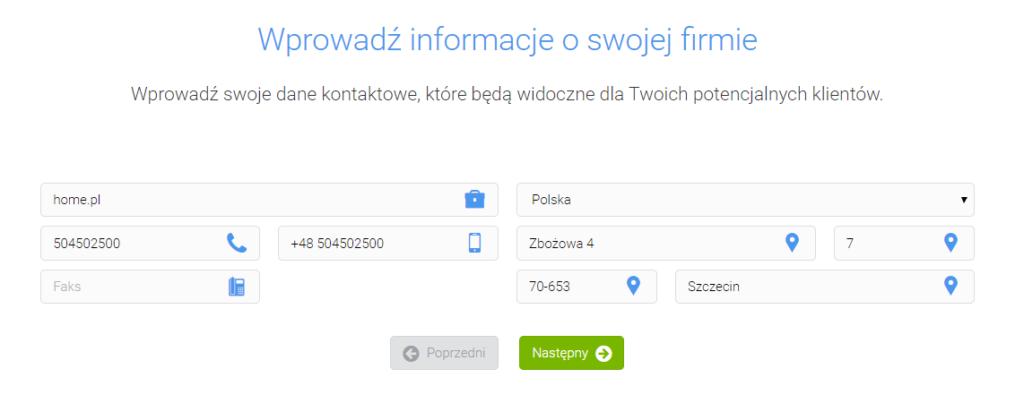 Pozycjonowanie lokalne strony WWW