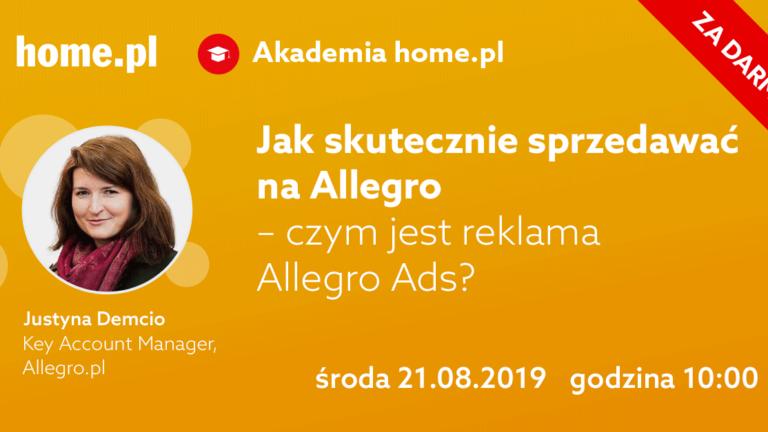 """Darmowy webinar """"Jak skutecznie sprzedawać na Allegro – czym jest reklama Allegro Ads?"""""""