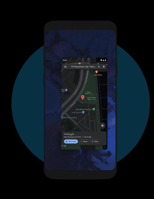 Nawigacja gestami w Android 10