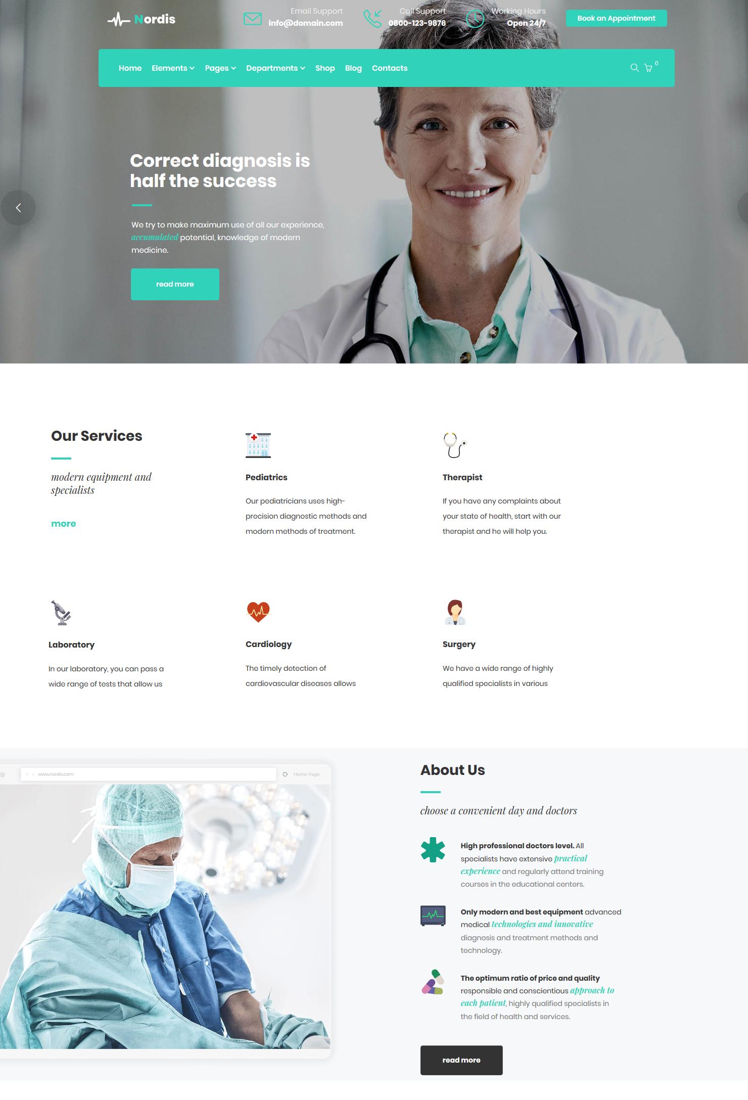 Motyw do WordPressa dla gabinetów lekarskich i lekarzy - MedLab