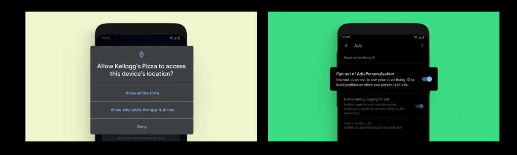 Ustawienia prywatnośći w Android 10