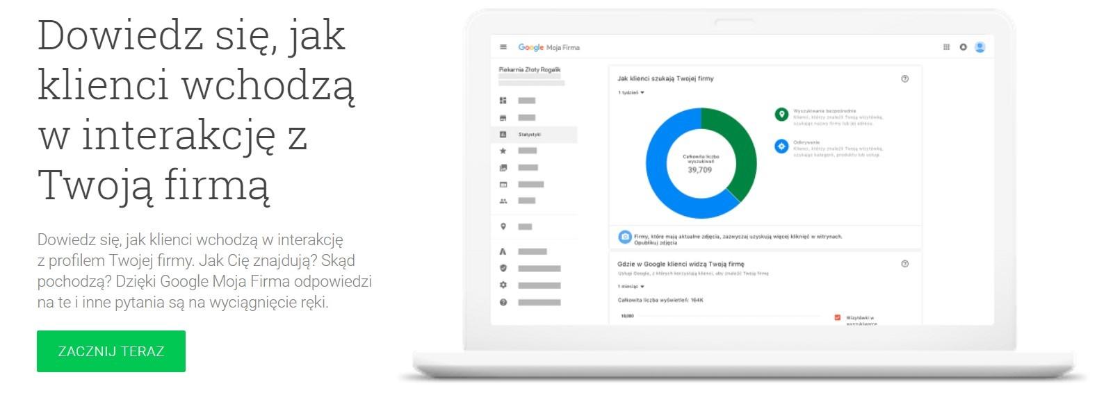 Pozycjonowanie stron WWW za pomoca Google Moja Firma