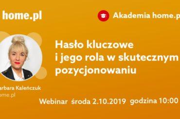Pozycjonowanie stron - frazy kluczowe, webinar home.pl