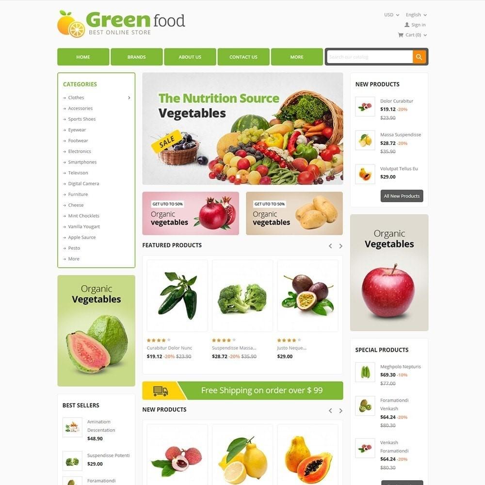 Przykładowy szablon dla sklepu internetowego PrestaShop ze zdrową żywnością.