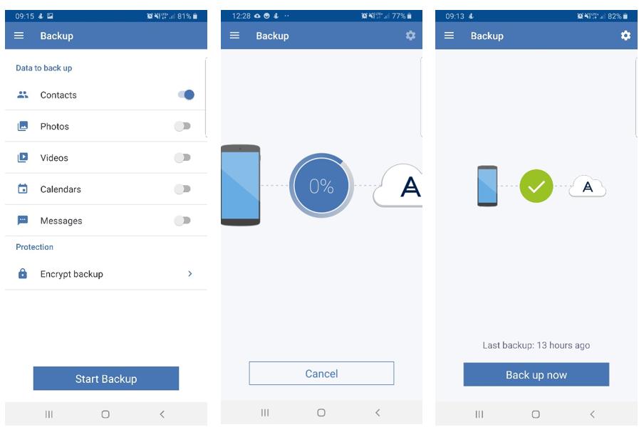 Aplikacja do tworzenia kopii zapasowych Androida - Acronis Mobile Backup