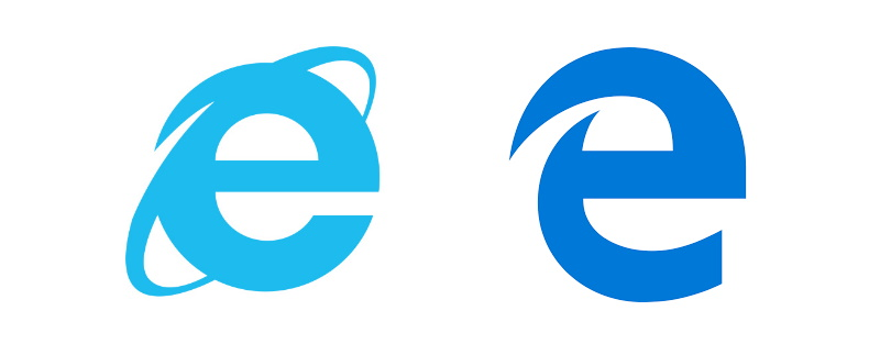 Stare ikony Edge i Internet Explorer