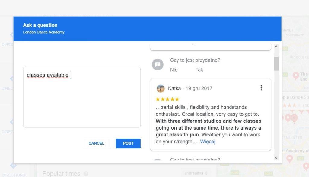 Google Moja Firma - FAQ -  pytania i odpowiedzi