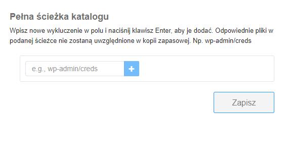 Tworzenie kopii zapasowej wybranego katalogu (usługa Backup WWW w home.pl)