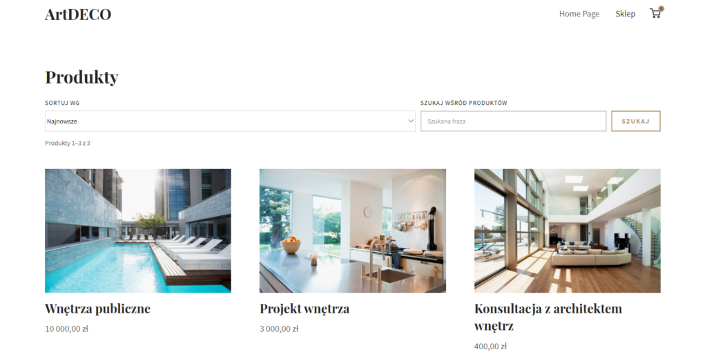 Prosty sklep internetowy w Kreatorze WWW home.pl