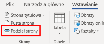Podział strony w Wordzie - instrukcja
