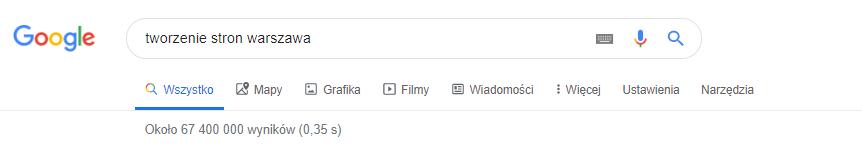 Wyszukiwanie ofert tworzenia stron WWW w Warszawie.