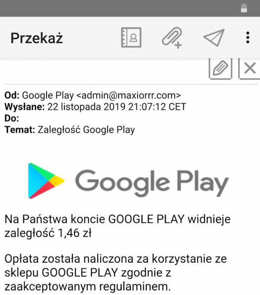 Marka Google Play została wykorzystana do najnowszego, niebezpiecznego ataku phishingowego.