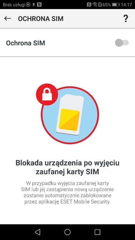 Moduł antykradzieżowy - antywirus na Androida Eset