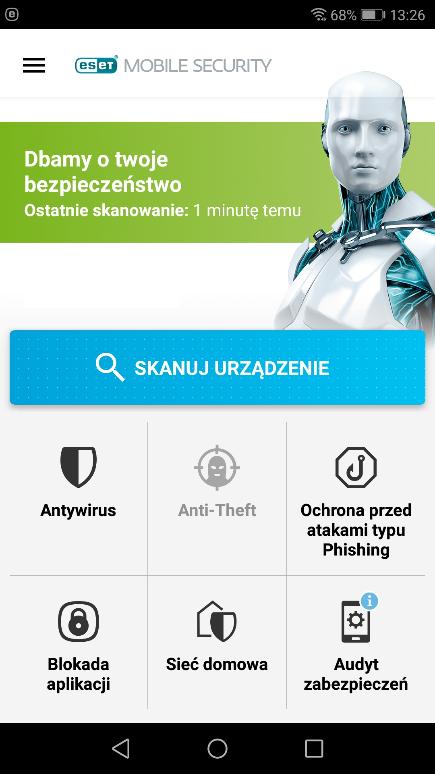 Antywirus na Androida - Eset