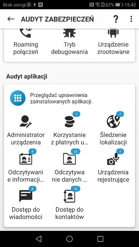 Antywirus na Androida - audyt aplikacji