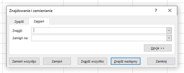 Excel - usuwanie pustych spacji