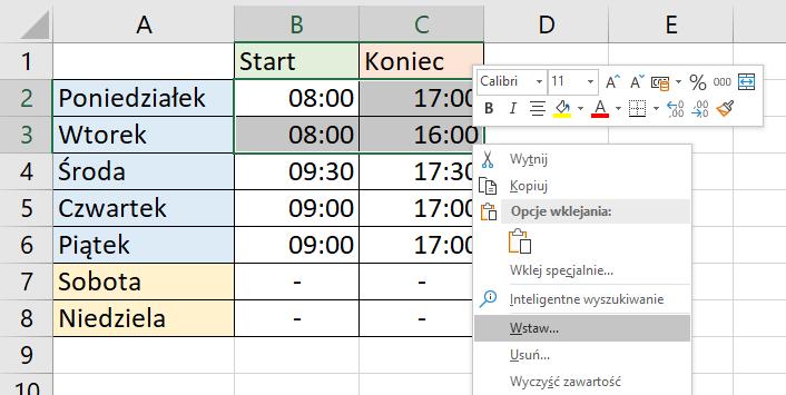 Kolumny w Excelu - poradnik za darmo