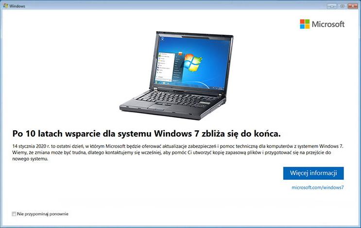Kiedy koniec wsparcia Windows 7?