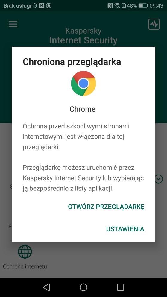 Antywirus na smartfona z androidem - ochrona przeglądarki