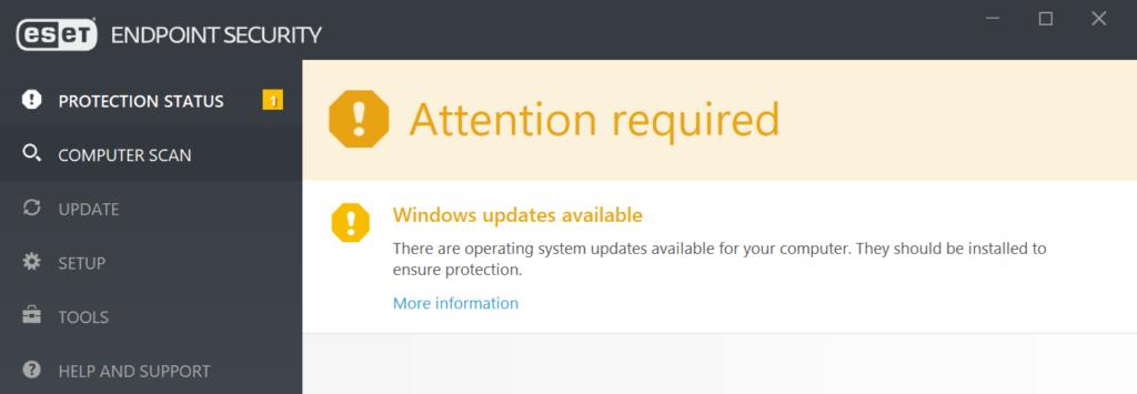 ESET informuje o konieczności aktualizacji systemu