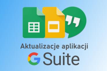 Aktualizacja aplikacji w G Suite