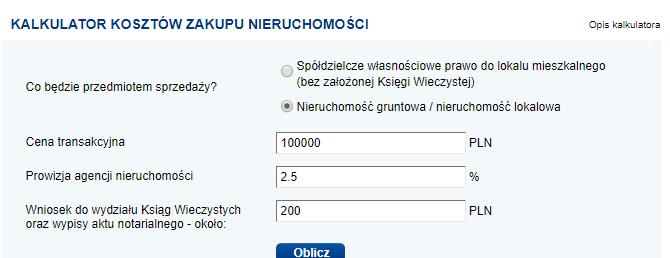 Strona WWW dla biura nieruchomości - kalkulator wyceny
