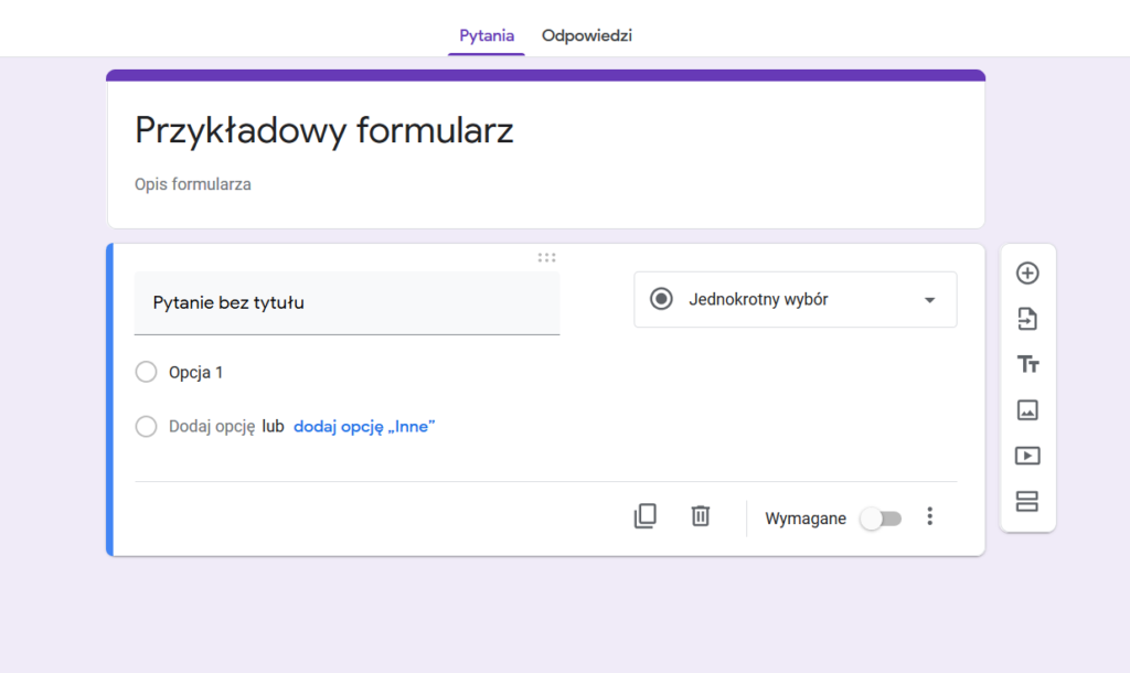 Formularze Google w WordPress